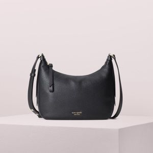 Kate Spade ♠️ Black Leather Lake Crossbody Purse